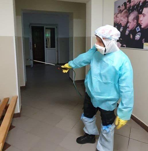 В УДФСУ провели дезінфекцію приміщень