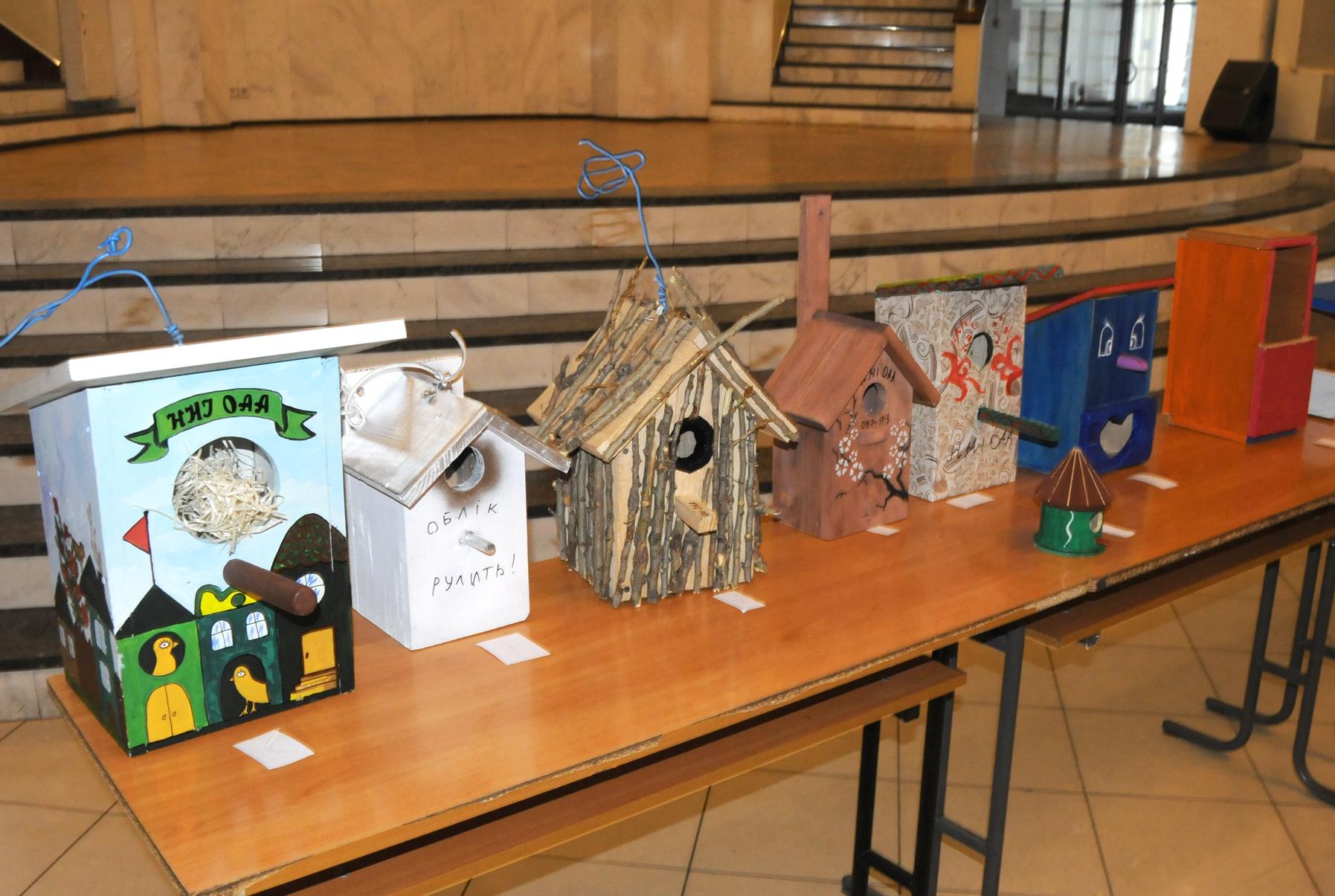До Всеукраїнської акції «День зустрічі птахів» відбувся конкурс на кращу годівницю та шпаківню