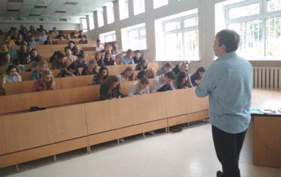 """Кафедрою психології та соціології було проведено майстер-клас відомим психологом Володимиром Миколенком """"Емоційне моделювання"""""""