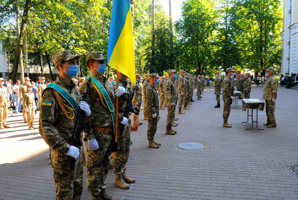 В УДФСУ відбулися урочистості з нагоди прийняття студентами військової присяги