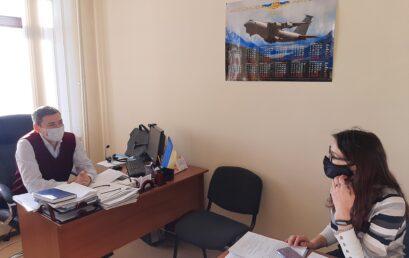Зустріч директора ННІ гуманітарних наук Євгена Миколайовича Сулими з лідером міжнародної, молодіжної студентської організації AEISEC