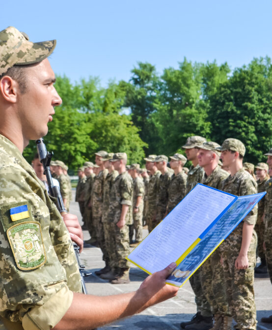 Випускники кафедри військової підготовки Університету ДФС України прийняли Військову присягу на вірність українському народові