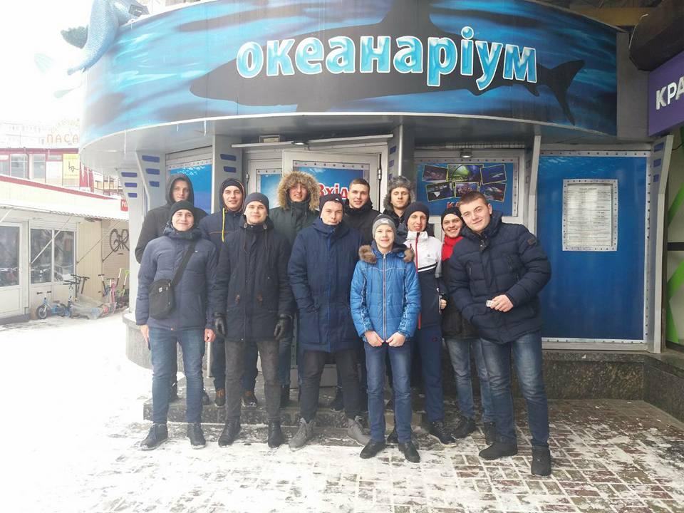 """Екскурсія до океанаріуму """"Морська казка"""" взводу ПМП-15-3"""