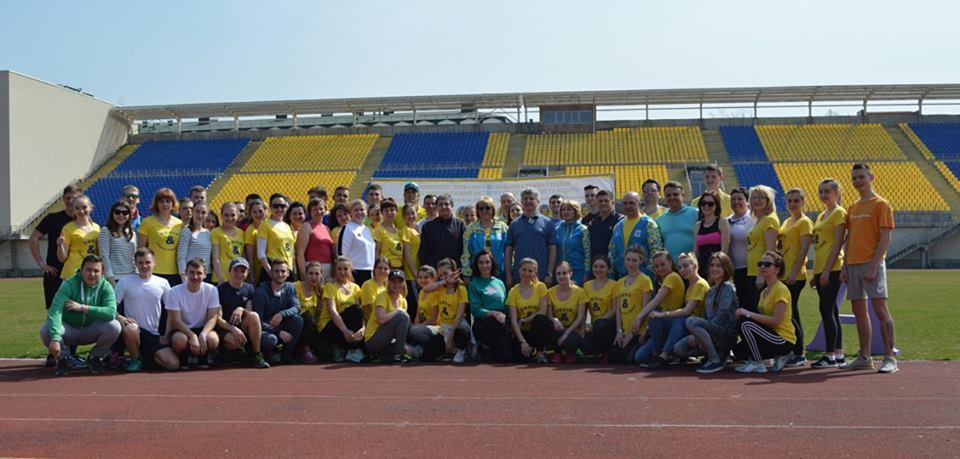"""Перший благодійний марафон """"20 000 кроків до здоров'я, знань та успіху"""""""