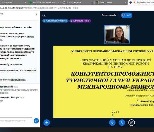 """Он-лайн захист випускних кваліфікаційних робіт магістрів спеціальності 292 """"Міжнародні економічні відносини"""""""