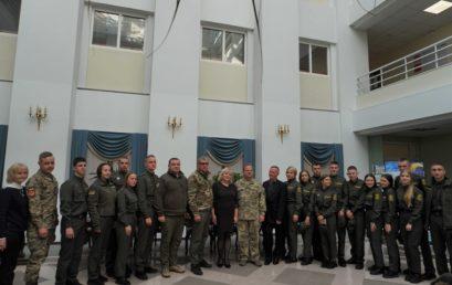 До УДФСУ завітали учасники бойових дій на сході України