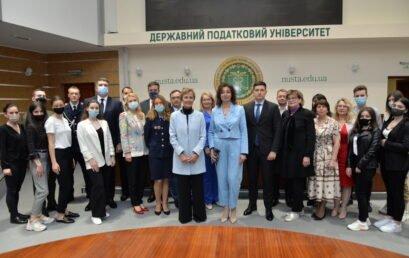 До Університету державної фіскальної служби України завітала Надзвичайний і Повноважний Посол Федеративної Республіки Німеччина в Україні Анка Фельдгузен