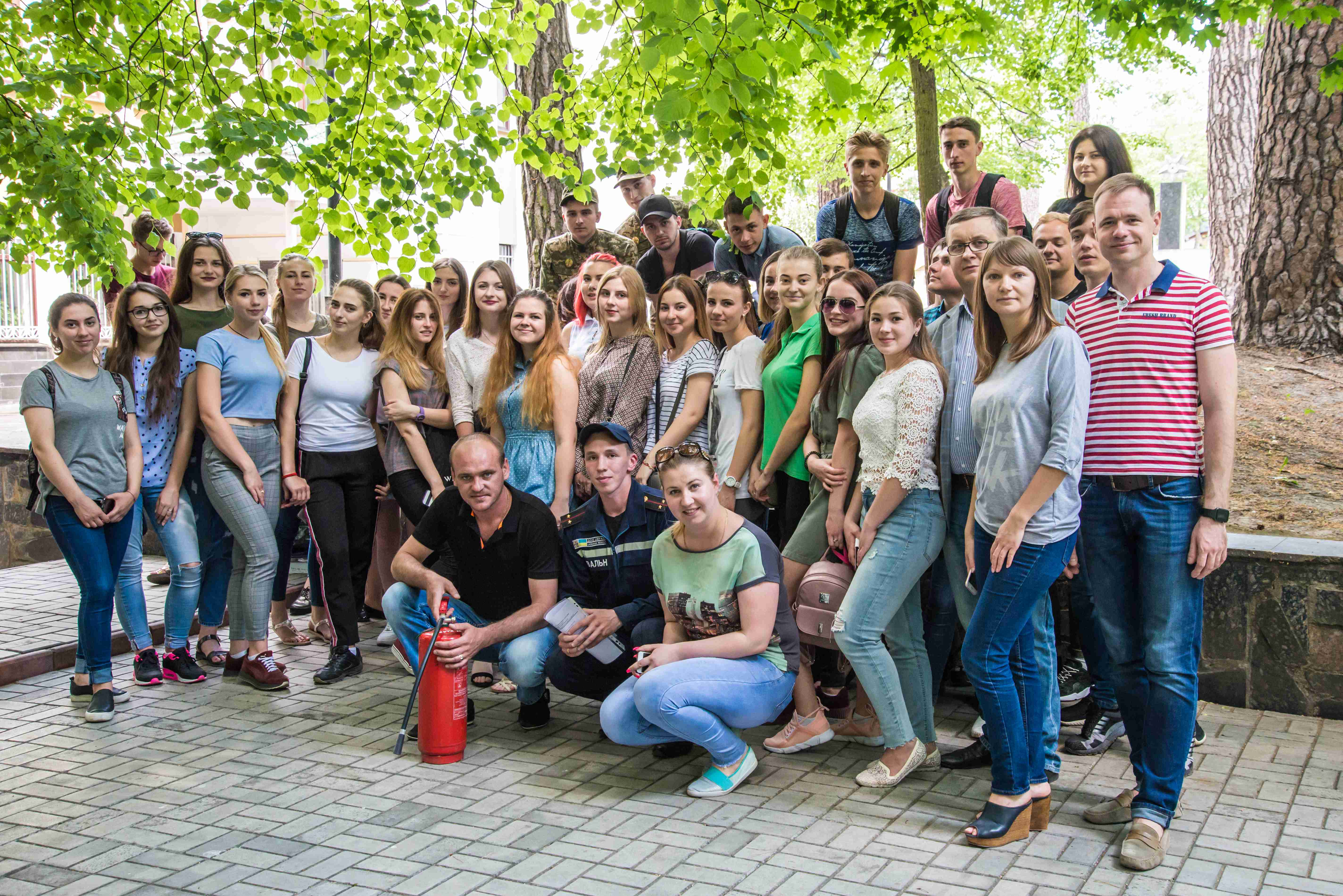 Для студентів університету проведено спеціальне навчання з пожежної безпеки