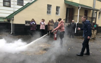 Студентам та працівникам університету провели навчання з питань цивільного захисту