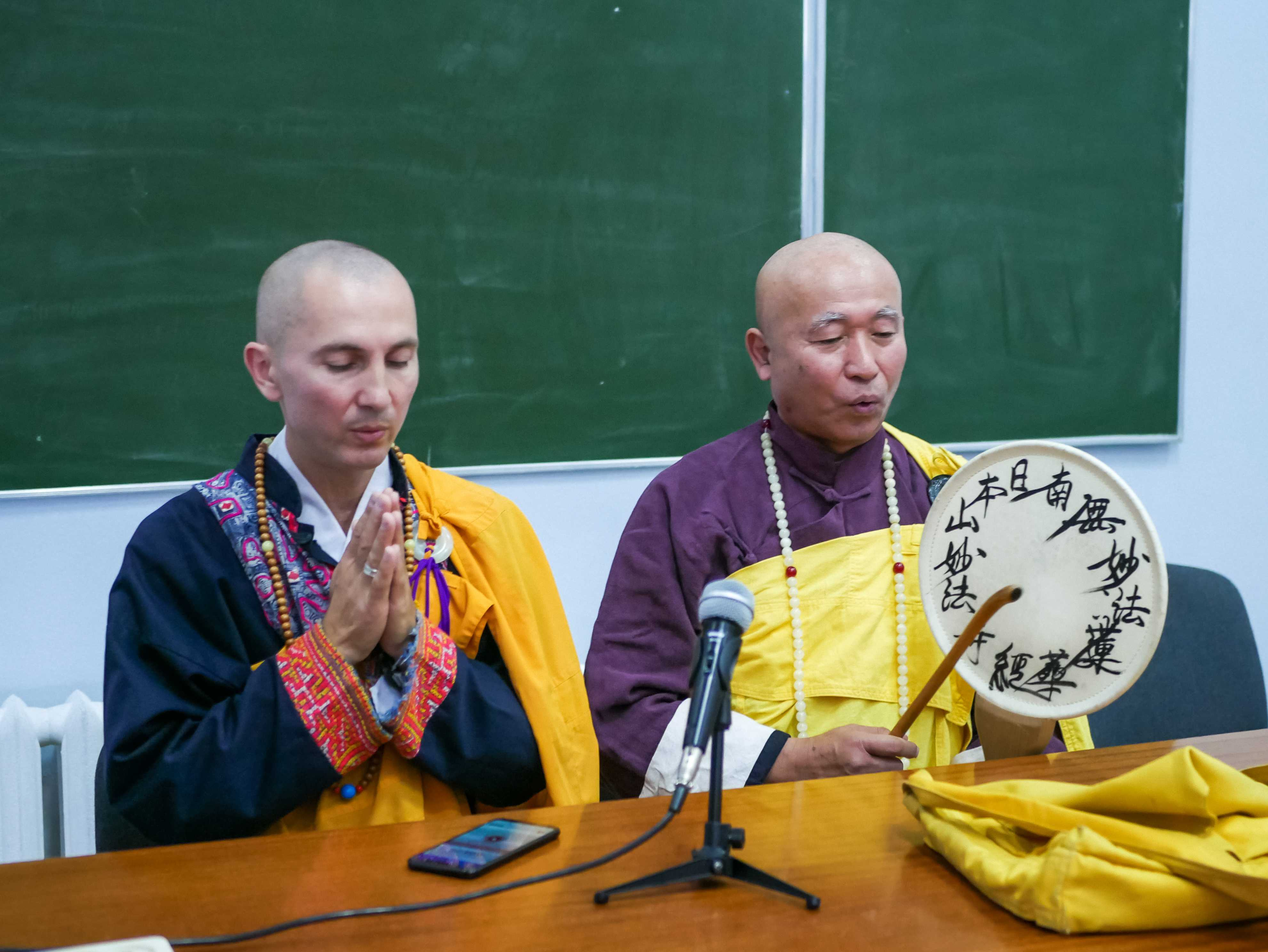 До УДФСУ завітав мандрівний буддійський чернець та миротворець Дзюнсей Терасава