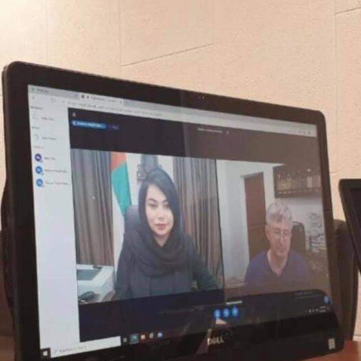 Ректор Павло Пашко та Тимчасово повірена у справах Посольства ОАЕ Наджла Аль-Раїс провели он-лайн зустріч