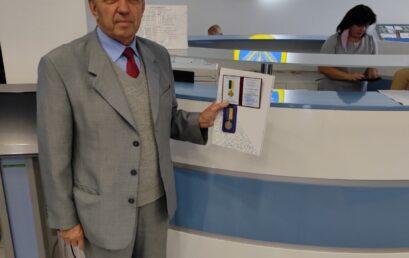 Голова Ради ветеранів Університету державної фіскальної служби України Олександр Сластьоненко отримав медаль «За заслуги перед містом Ірпінь»