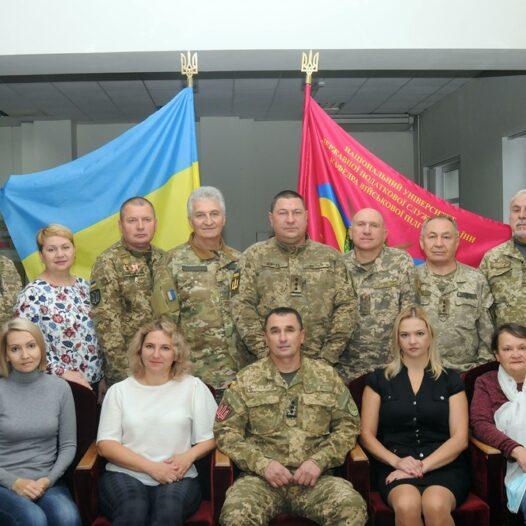 Вітання з Днем захисника України від кафедри військової підготовки